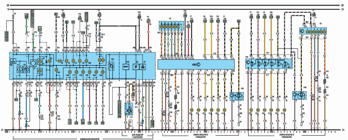 электрическая схема саманд